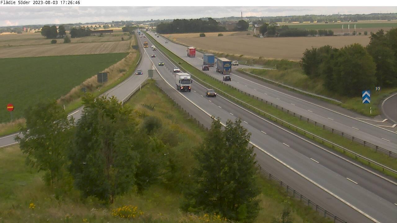 Trafikkamera - Trafikplats Flädie söderut