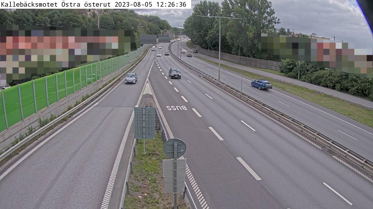 Trafikkamera – Kallebäcksmotet Östra sydost
