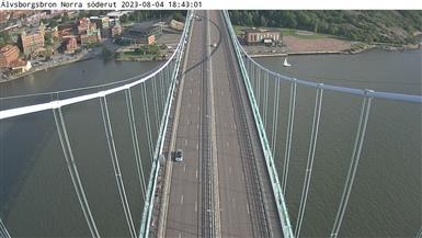 Trafikkamera - Älvsborgsbron Norra söderut
