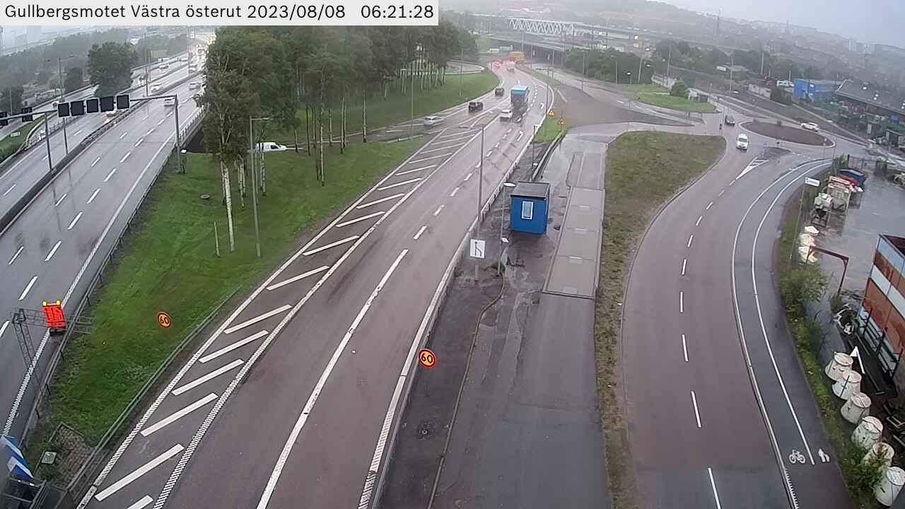Trafikkamera – Gullbergsmotet Västra österut