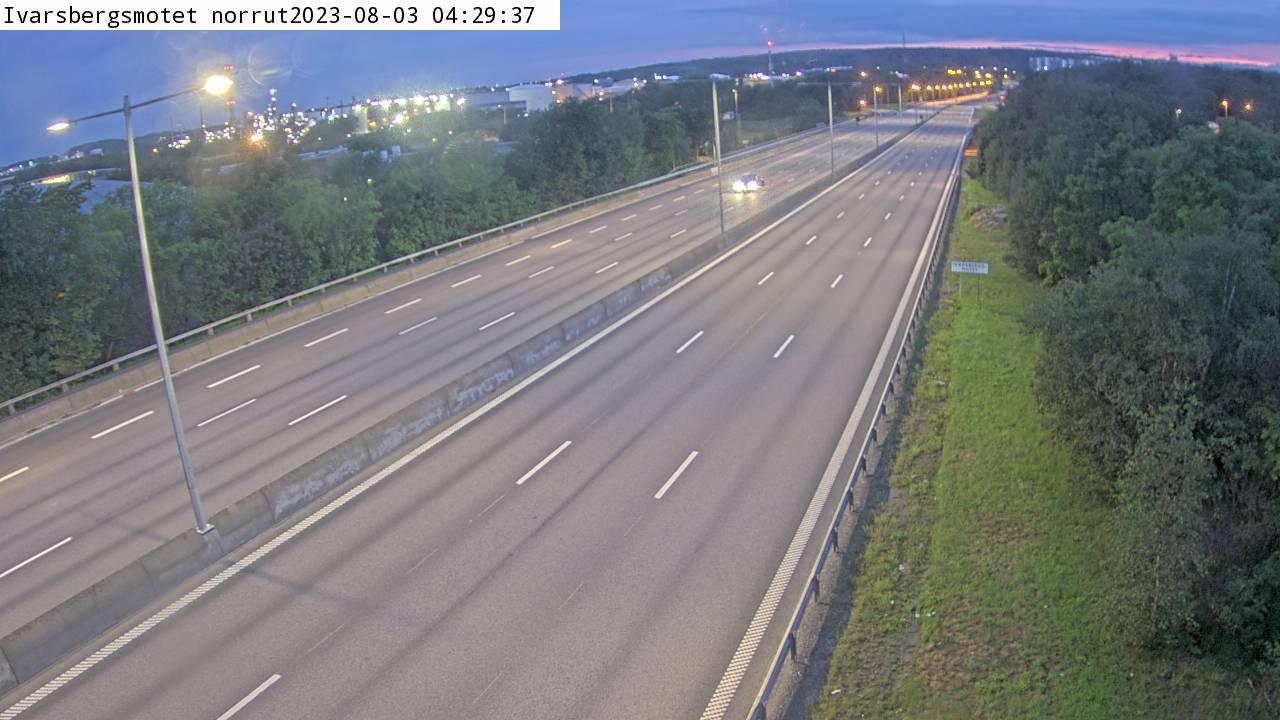 Trafikkamera - Ivarsbergsmotet norrut