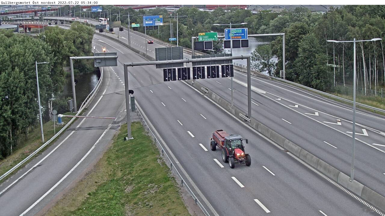 Trafikkamera – Gullbergsmotet Östra nordost