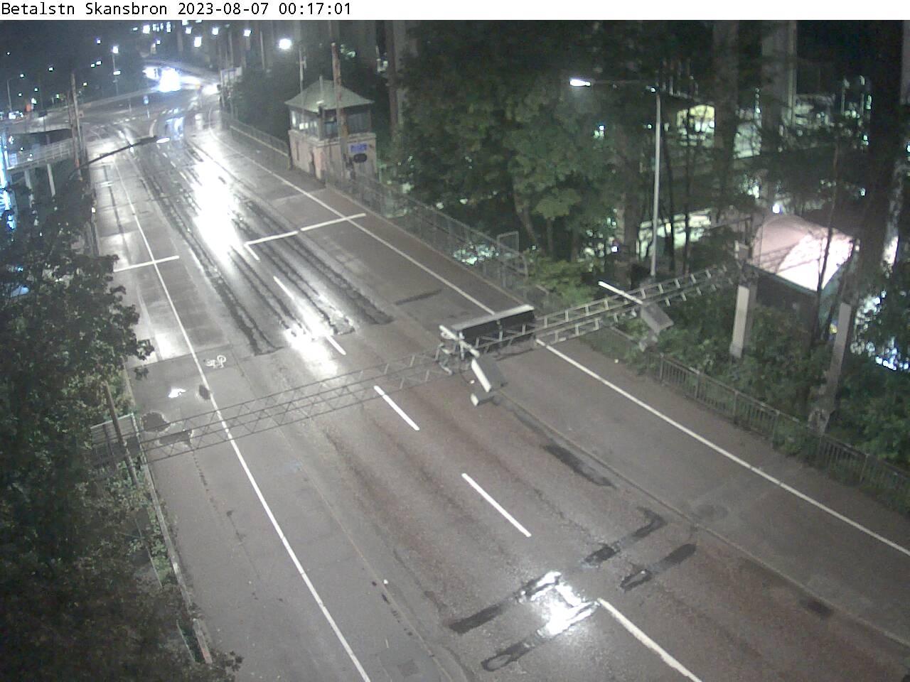 Trafikkamera - Essingeleden, Fredhäll, söderut.