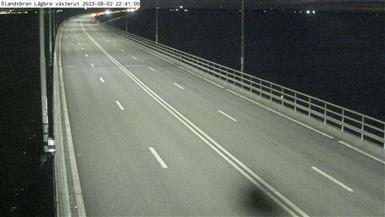 Trafikkamera - Ölandsbron, lågbrodelen, västerut