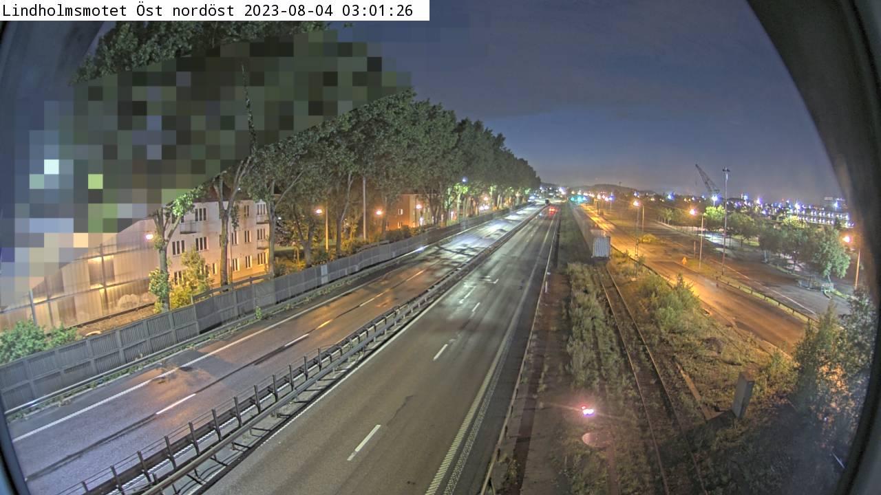 Trafikkamera - Lindholmsmotet Öst nordöst
