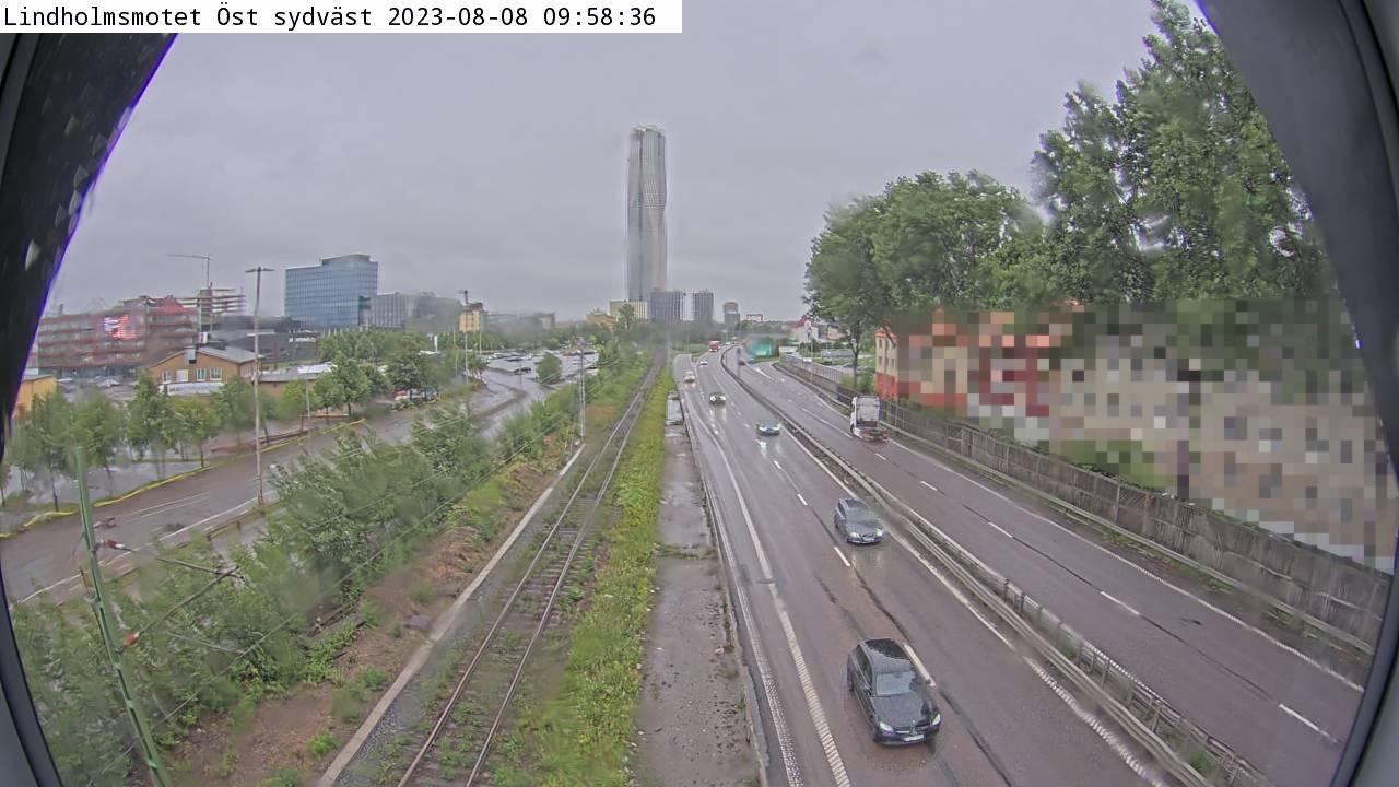 Trafikkamera - Lindholmsmotet Öst sydväst