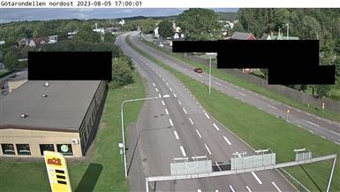 Trafikkamera –Alingsås Götarondellen – E20 nordost